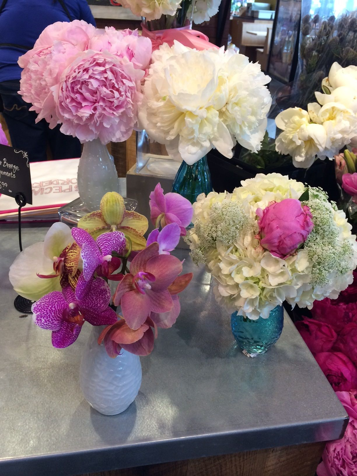 Whole Foods wedding flowers Peg s Peony Pegboard