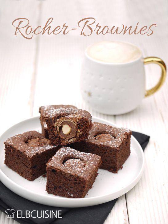 schneller kuchen 10 minuten rocher brownie dessert. Black Bedroom Furniture Sets. Home Design Ideas