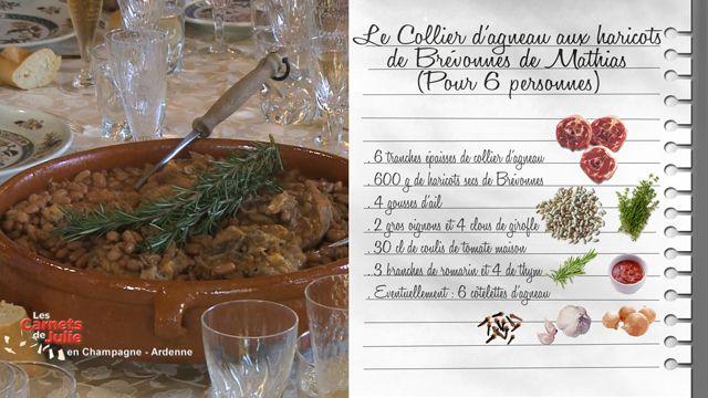 Collier d agneau aux haricots de br vonnes de mathias - Cuisiner le collier d agneau ...