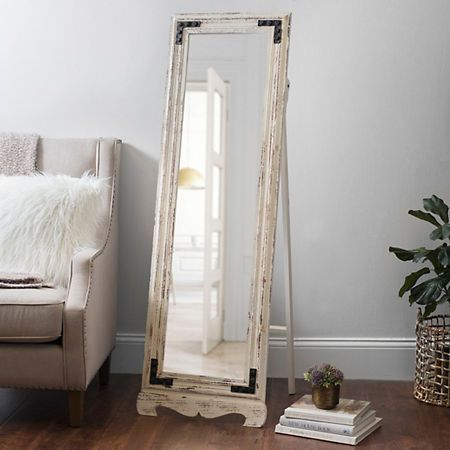 length rustic mirror furniture floor full
