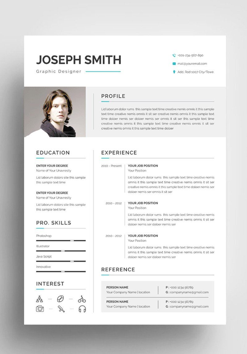 Joseph Smith Resume Template 85230 in 2020 Resume