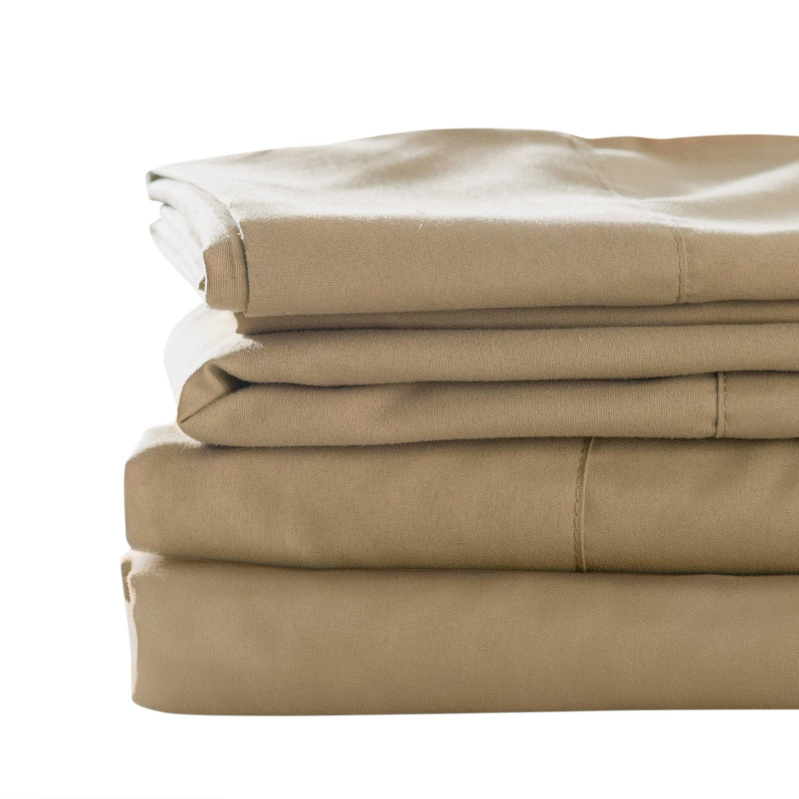 Blended Bamboo Sheet Set By Best Bamboo Bedding Tan Size King
