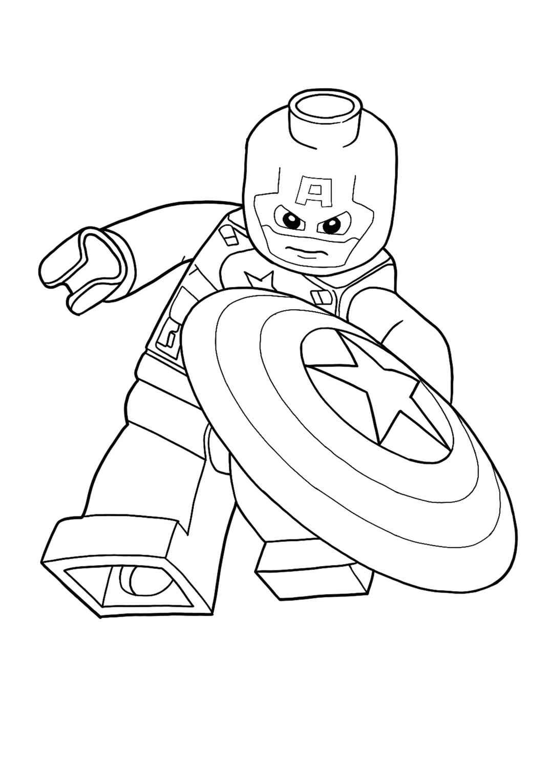 Lego Captain America Coloring Page Captain America Coloring Pages Superhero Coloring Pages Avengers Coloring Pages