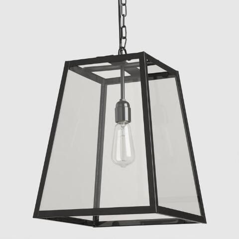 Our Sleek Four Sided Glass Hanging Pendant Lantern Is