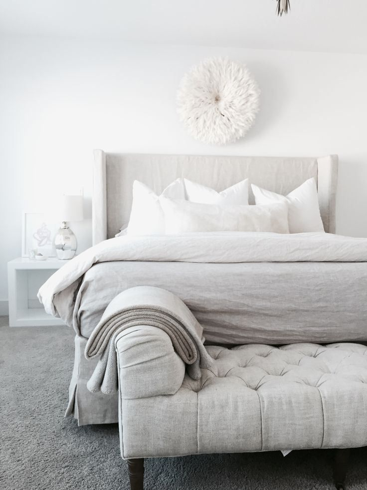 cozy white bed.....linen for summer time....bedding ...juju hat ...