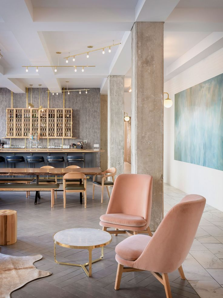 Hi lo hotel lobby in portland oregon by jessica helgerson - 2 bedroom suites portland oregon ...