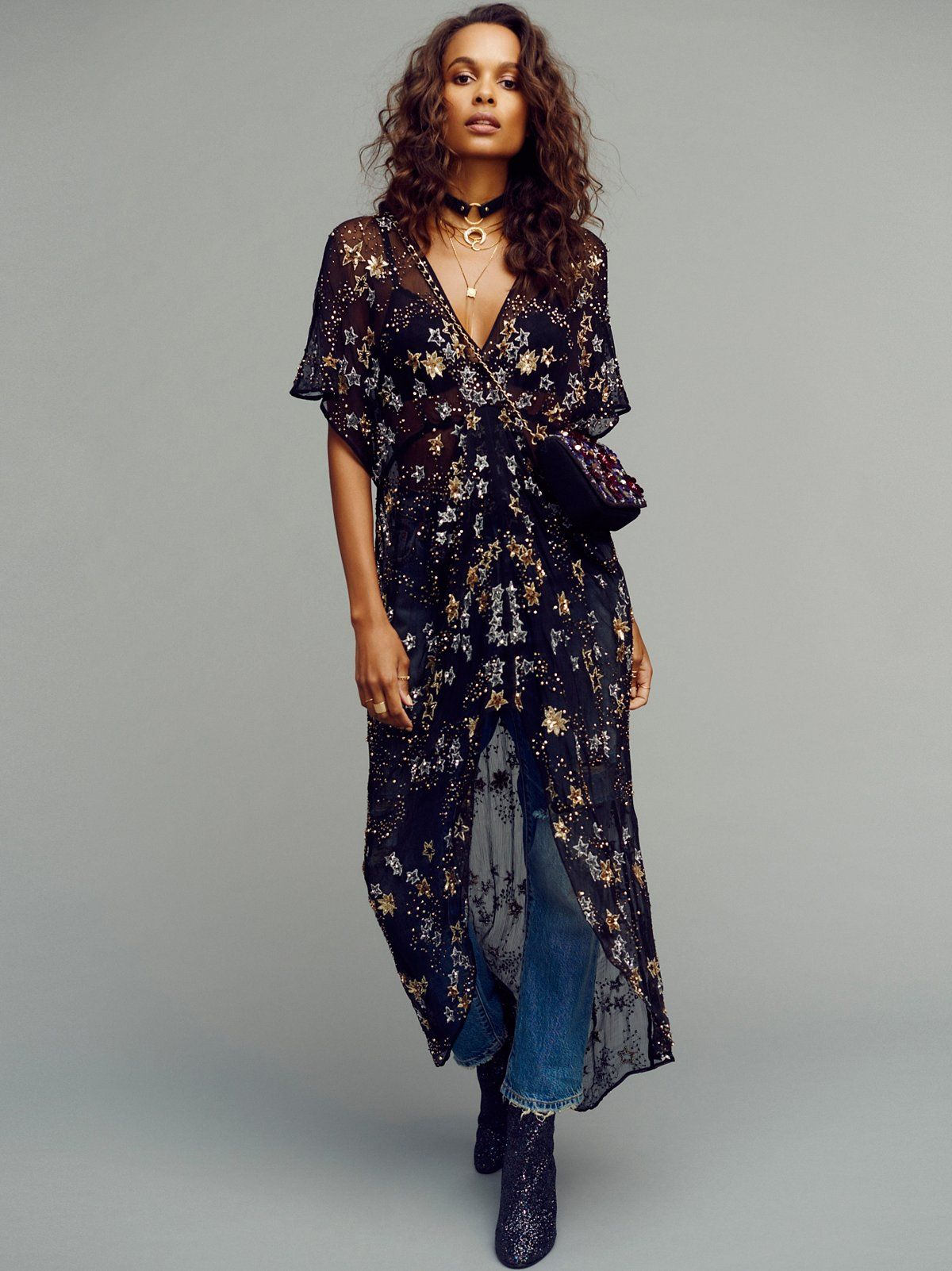 Freepeople starry night embellished maxi top u obsessed with this