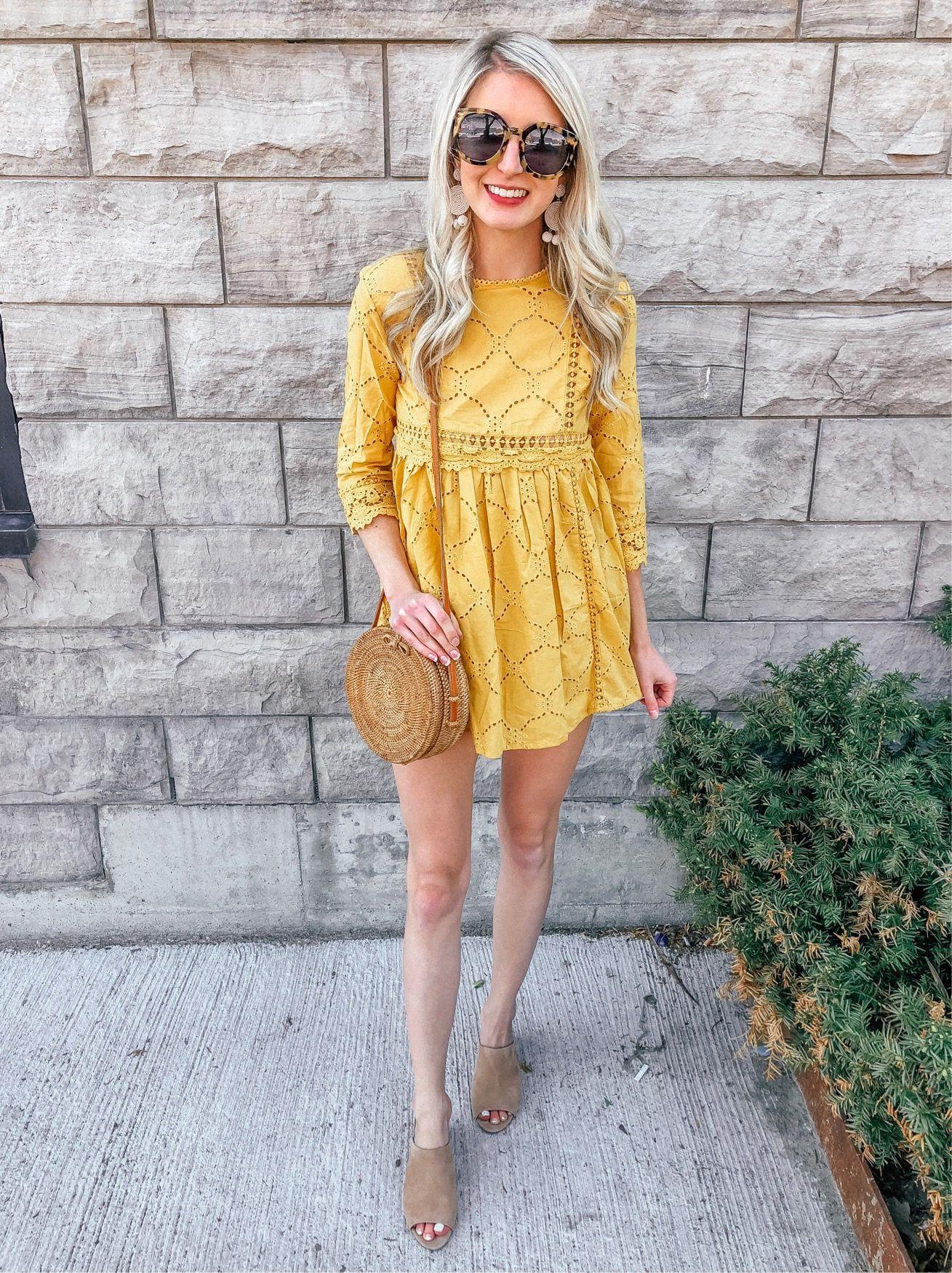 Yellow dress for women  Prada u Pearls  Instagram roundup  babydoll  babydoll dress