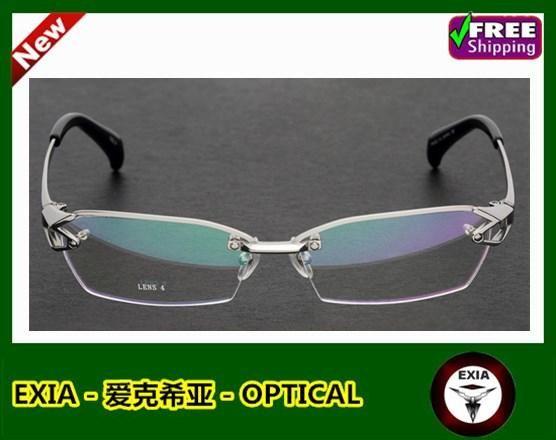 24b9c5c8ef5 Titanium Spectacle Men Prescription 1.61 High Index Ophthalmic Myopia Lenses  Aspherical SHMC EXIA OPTICAL KD-40 Series