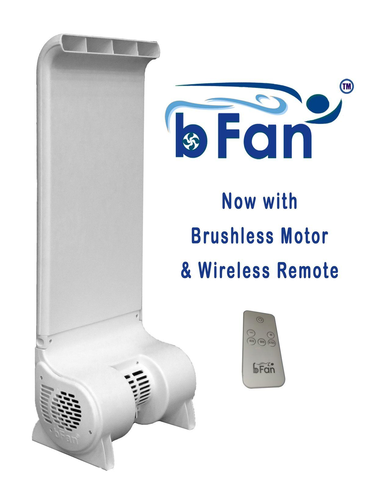 Bfan With Wireless Remote And Brushless Motor Select Height