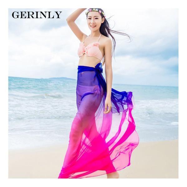 7ad3eb0630 Sarong Two Tone Beach Wrap - 3 Colors | Wrap skirts | Sarong dress ...