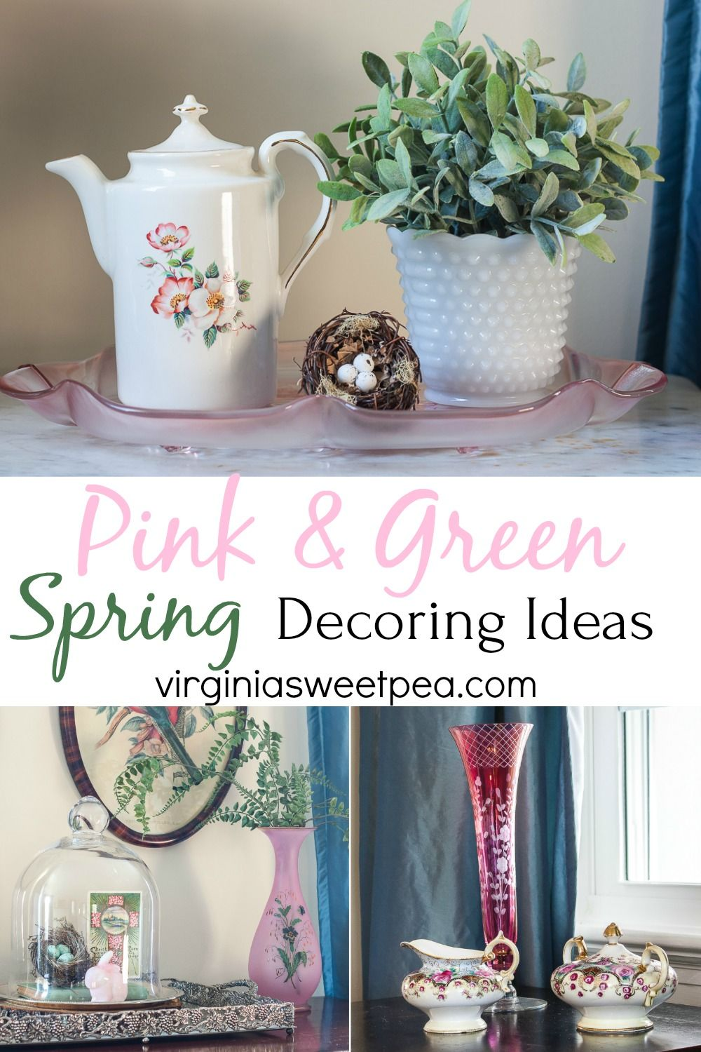 Spring Decorating With Pink And Green