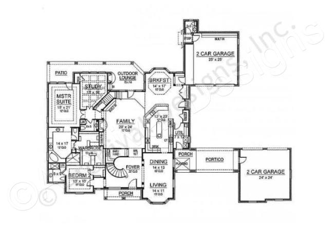 Tottenham House Plan Courtyard Floor House Plan First Floor Elevation Planos