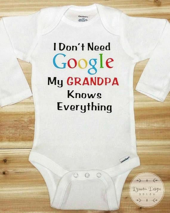 Funny onesies personalized baby onesie i dont need google my funny onesies personalized baby onesie i dont need google my dad knows negle Gallery