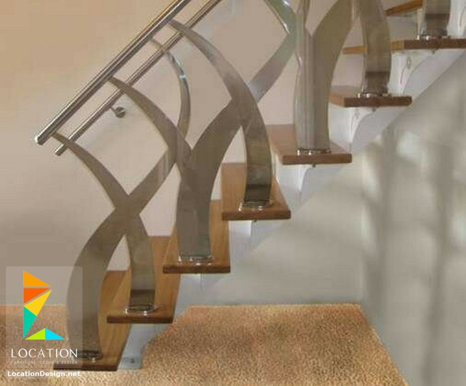 اشكال سلالم داخلية للشقق 2018 2019 Steel Stairs Design Staircase Railing Design Staircase Design Modern