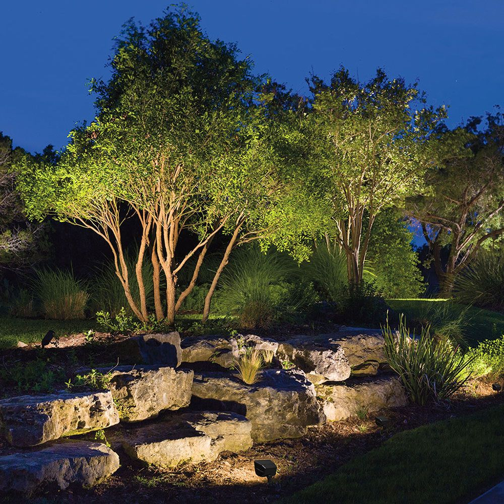 Kichler Landscape Rock Wall Sq Outdoor Landscape Lighting Outdoor Tree Lighting Landscape Lighting