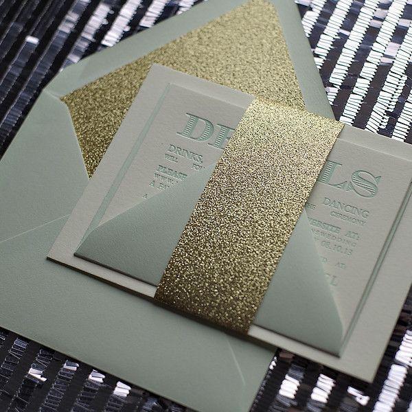 Saying I Do Gold Envelope Liners Wedding Liner
