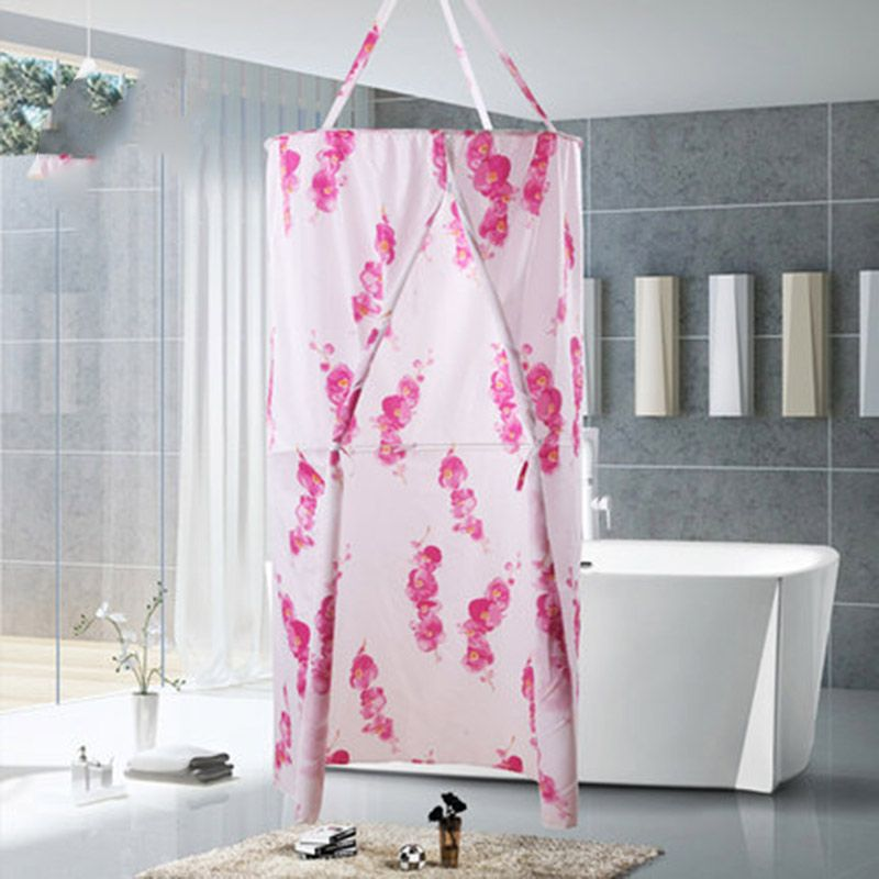shower curtain Bath cover curtain Plum blossom Leaves Polyester ...