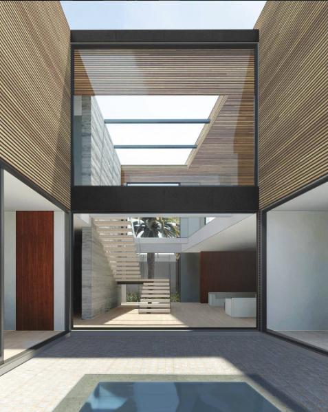 Two-story atrium in Carla Ridge by Walker Workshop
