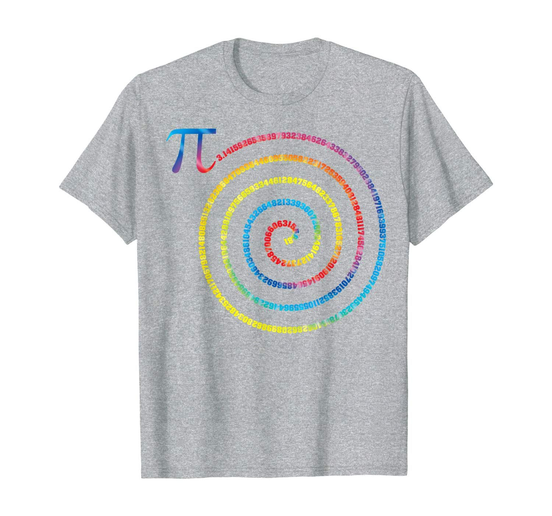 Pi Day Spiral March 14 Tie Dye Math Geek Nerd Tee T Shirt