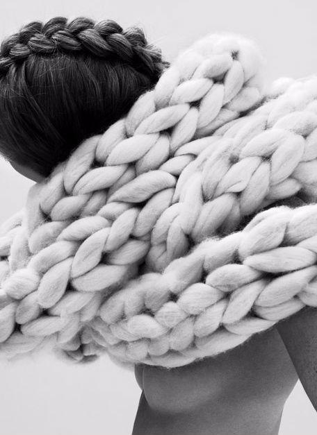Sculptural Fashion - oversized knitwear; experimental fashion design // Nanna Van Blaaderen