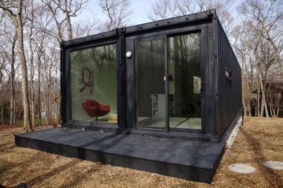 Metal Container Homes contemporary-gothic-shipping-container-design-with-gloss-black