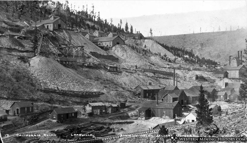 California Gulch Leadville Colorado Circa 1885