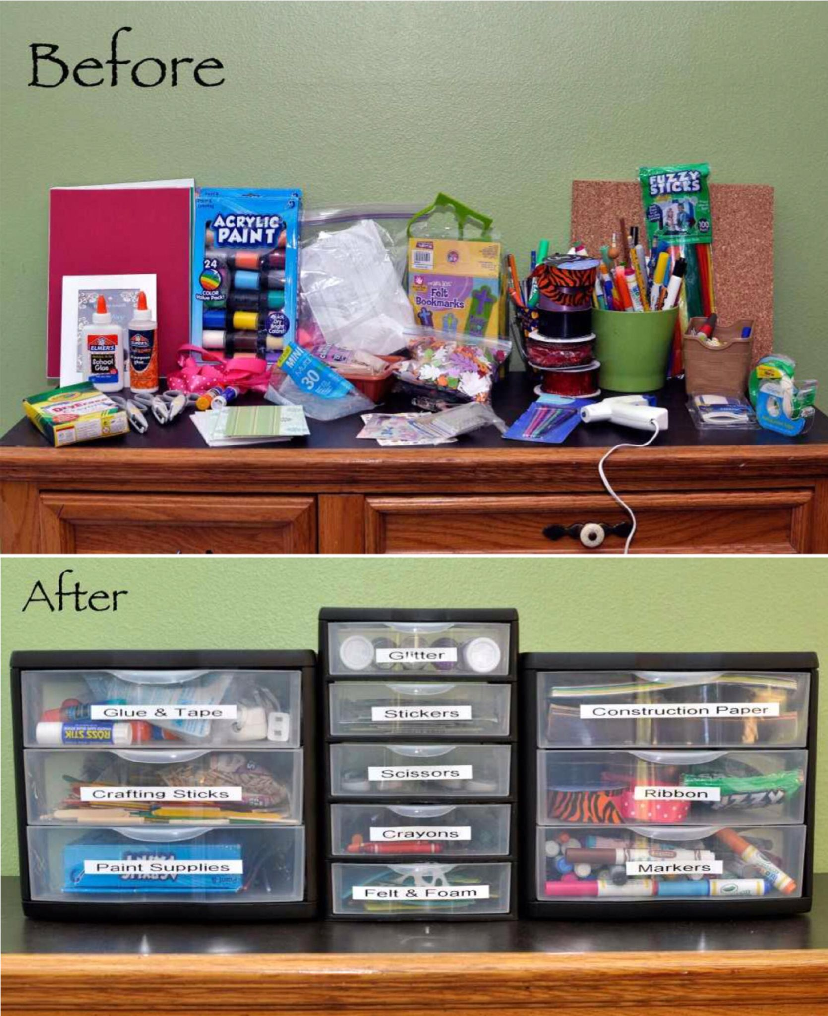 Bedroom Art Supplies: How To Organize Kids' Craft Supplies