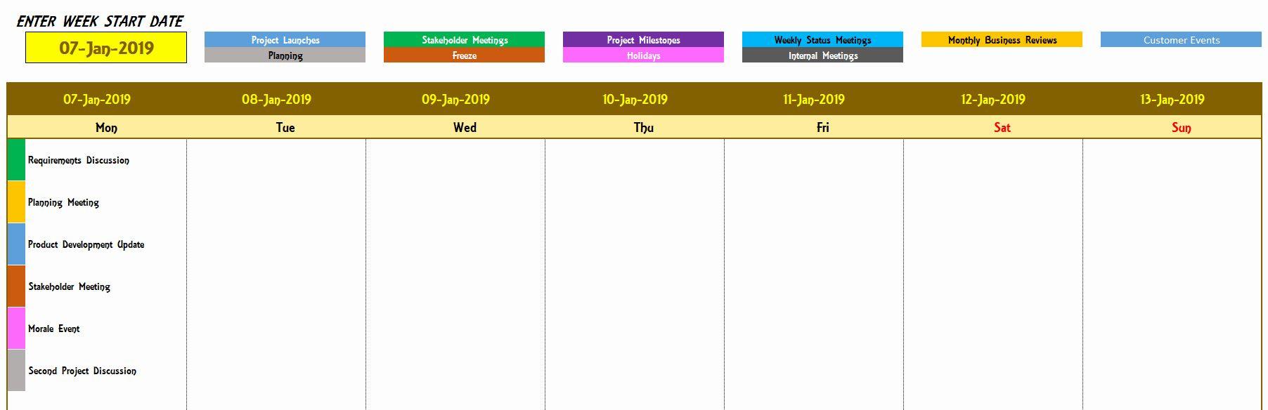 40 Weekly Schedule Templates Excel Weekly Schedule Template