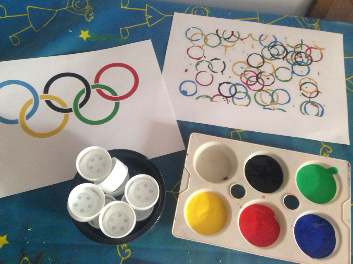 Sports Day Art Activity Olympic Rings Reception Class