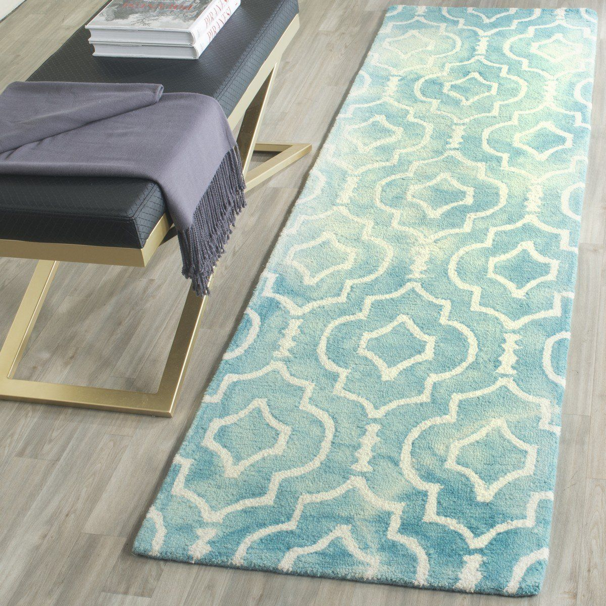 Safavieh Dip Dye Ddy538d Turquoise Ivory Rugs Colorful Rugs Washable Rugs