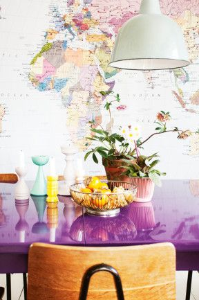 7 world view a wallpaper mural of a world map inspires the colour world view a wallpaper mural of a world map inspires the colour palette of gumiabroncs Images