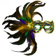 Feather Burst Sequin Mask: PGG