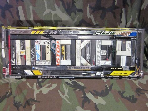 3 Hockey Sign Made From Hockey Sticks By Manland On Etsy Hockey Stick Hockey Room Hockey Stick Crafts