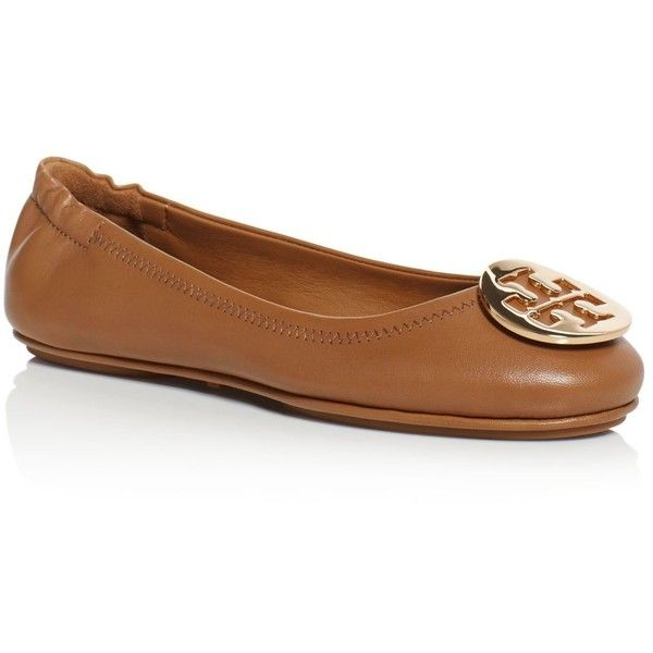 a1671e933fb Tory Burch Minnie Travel Ballet Flats ( 240) ❤ liked on Polyvore featuring  shoes