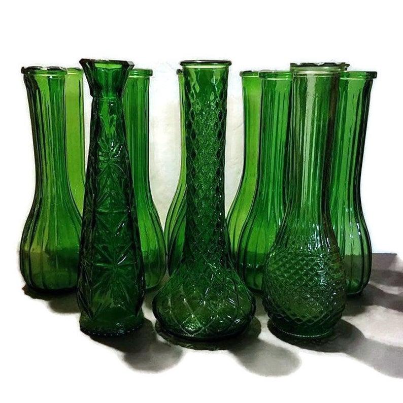 Vintage PGC EmeraldForest Green Bud Vase