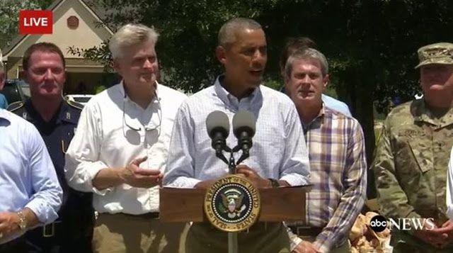 Ο Μπαράκ Ομπάμα στο πλευρό των πλημμυροπαθών στη Λουιζιάνα ~ Geopolitics &…