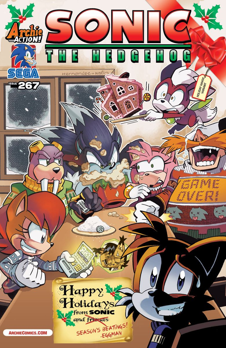 Sonic Christmas.Sonic Christmas Cover D Sonic The Hedgehog Sonic