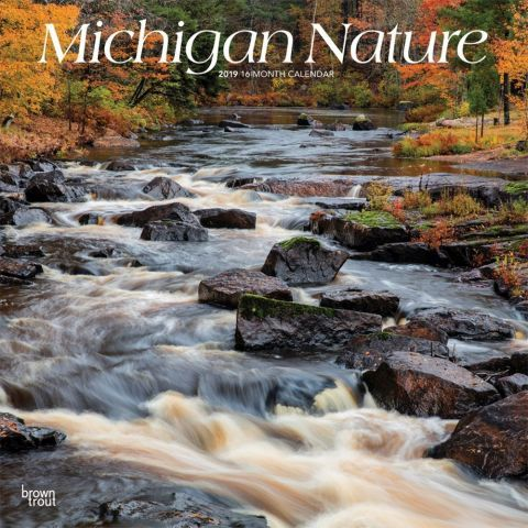 Michigan Nature 2019 Wall Calendar With the Great Lakes, lush