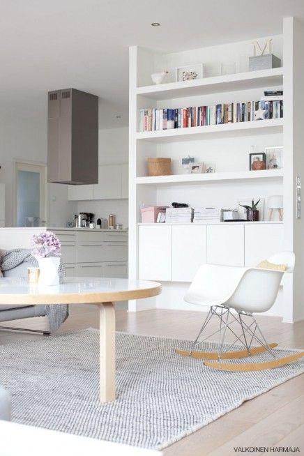 Ytong Wohnzimmer Scandinavian Living Skandinavische Inneneinrichtung Weiss Wohnrume Bcherregale Haus Design Kche Ideen