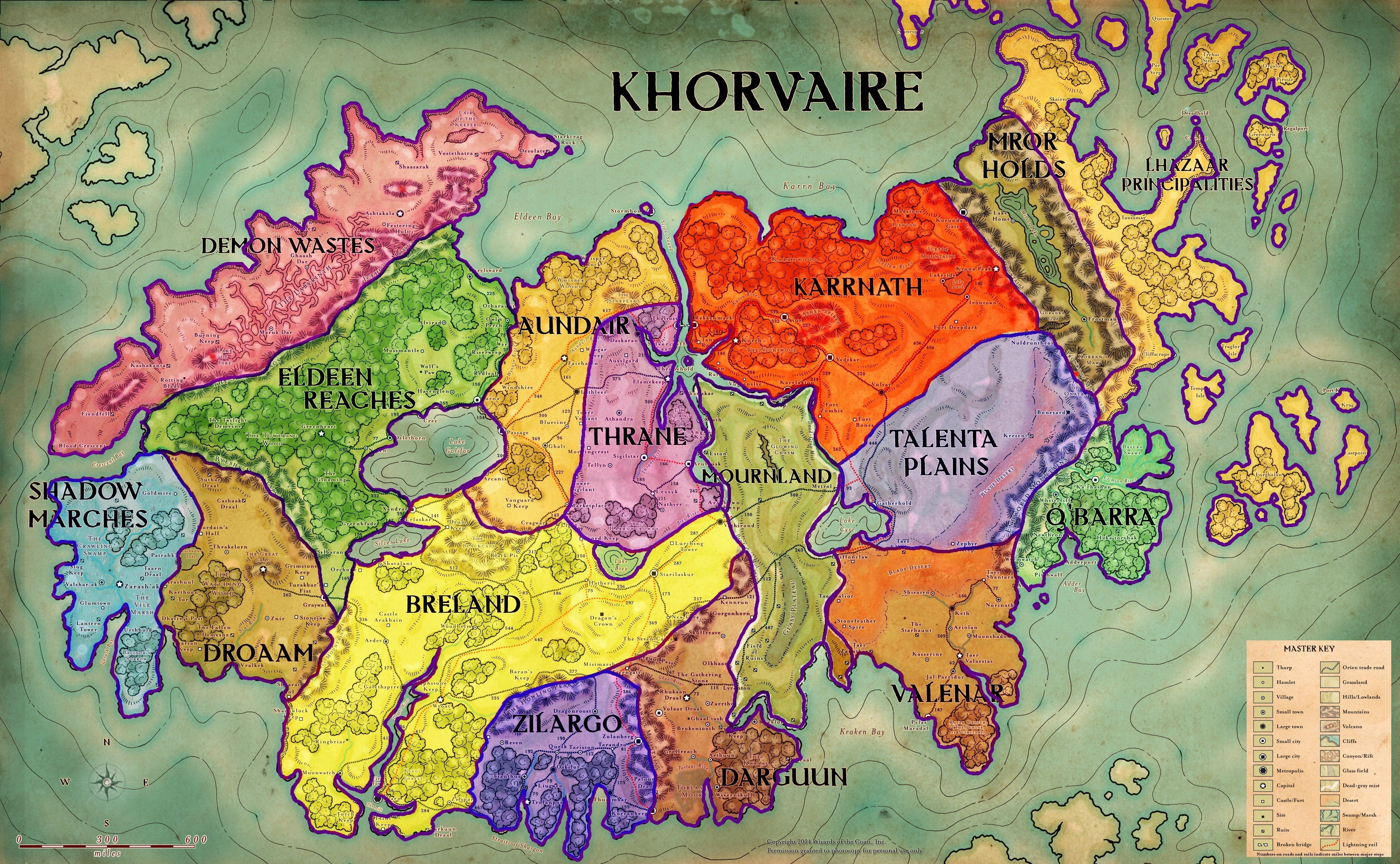 Territory Map Of Khorvaire Http://web.mit.edu/kbyers/Public/dnd/khorvaire  Map Colored
