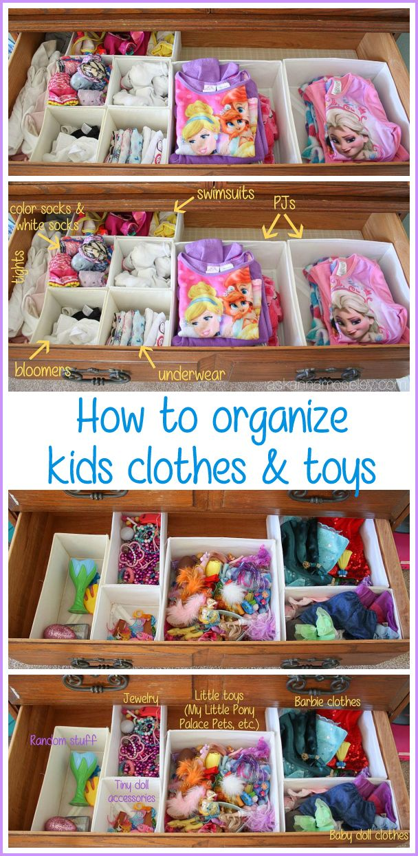 The Easiest Way To Organize Kids Clothes And Toys And