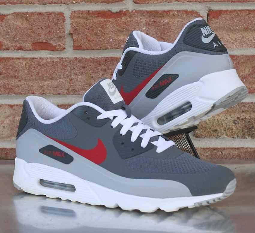 size 40 7d581 2e8f6 Nike Air Max 90 Ultra Essential Dark Grey Red White 819474-006 Men s Size  11.5  Nike  RunningCrossTraining