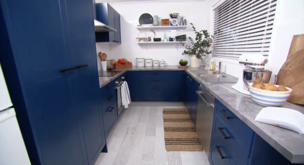 Blue Kitchen Makeover