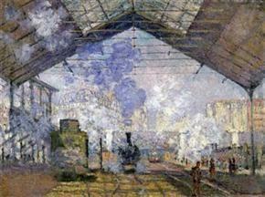 "CLAUDE MONET – ""Le gare Saint Lazare (La estación de Saint Lazare)"", 1877 – óleo sobre lienzo, 75-100 cm. - Paris, Musée d'Orsay"