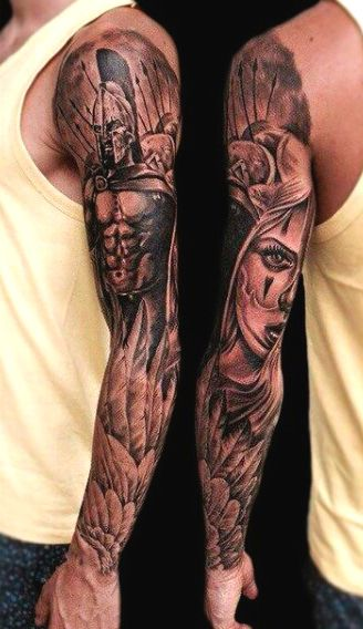 Top 101 Best Wing Tattoo Ideas 2020 Inspiration Guide Warrior Tattoo Sleeve Tattoos For Guys Sleeve Tattoos