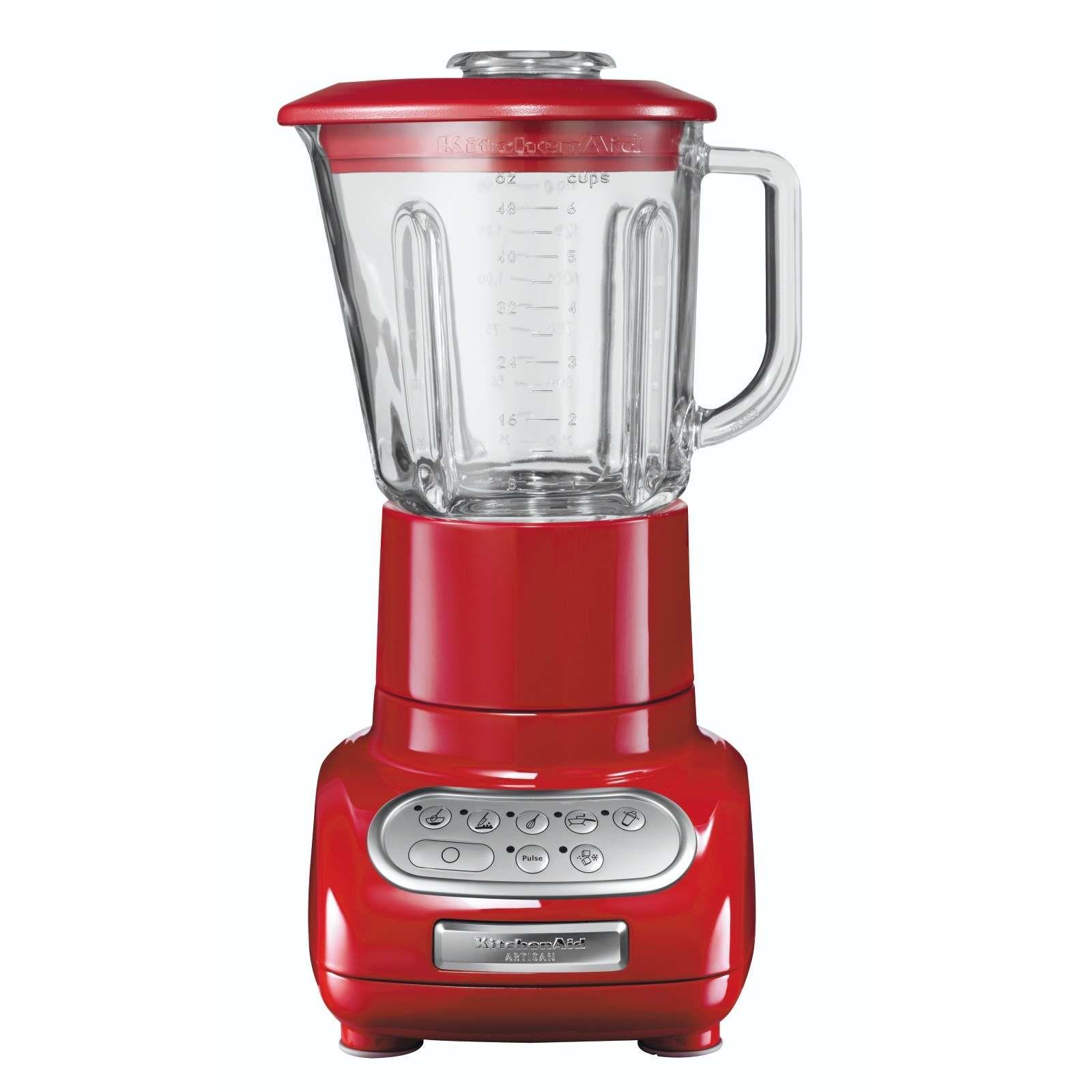 kitchenaid blender red 550 watts 1 5l capacity glass jug 5 speed