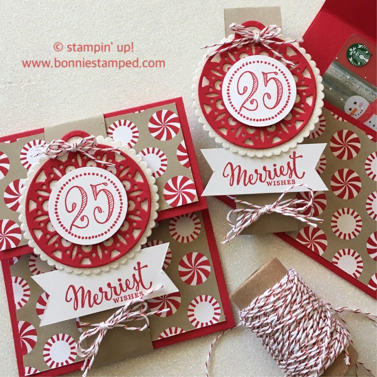 holidaycards #giftcardholder #candycanelane   Stampin Up Christmas ...