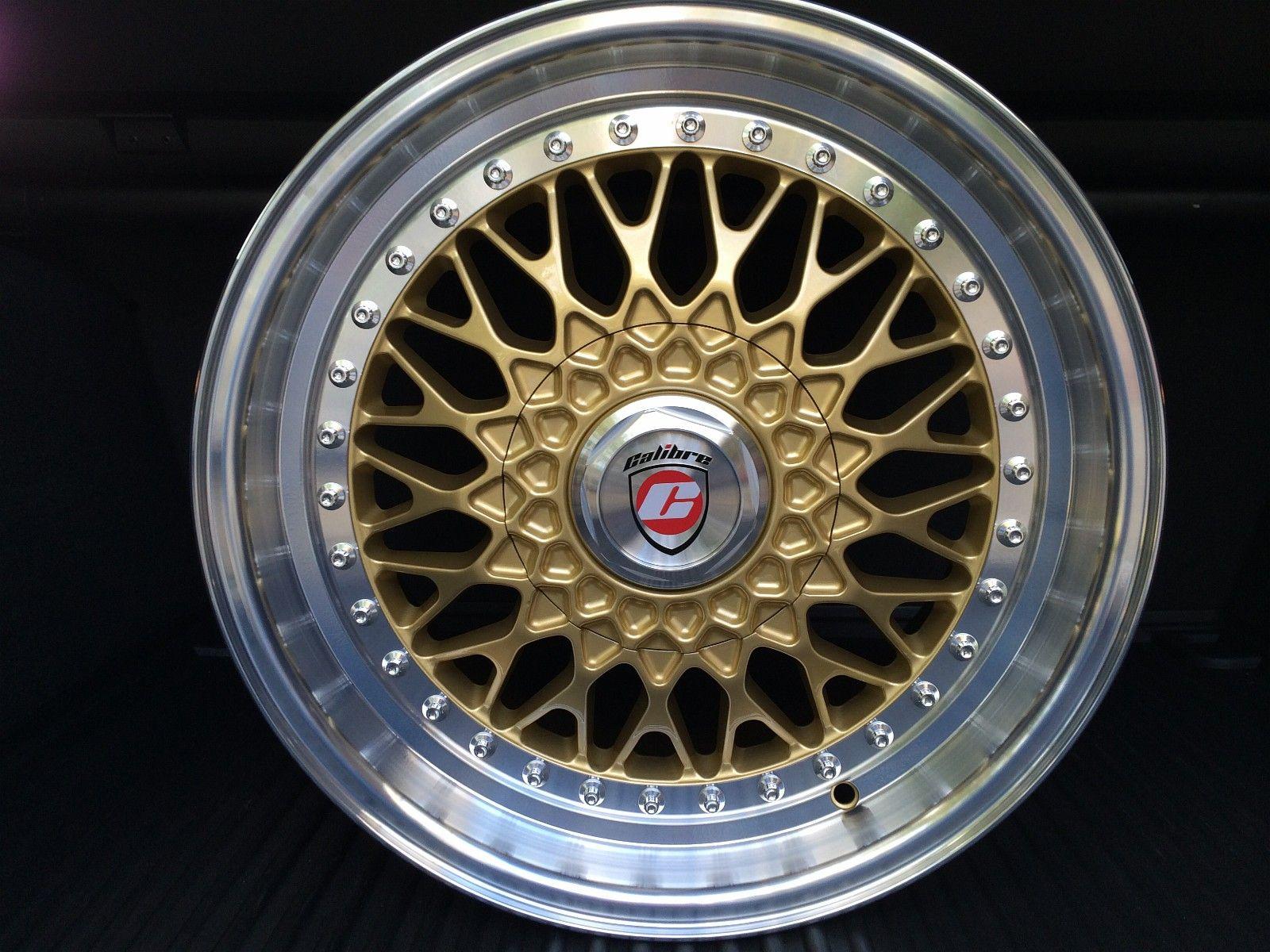3) FINN – BBS RS-Replica Calibre Vintage Gold Retro 4x100