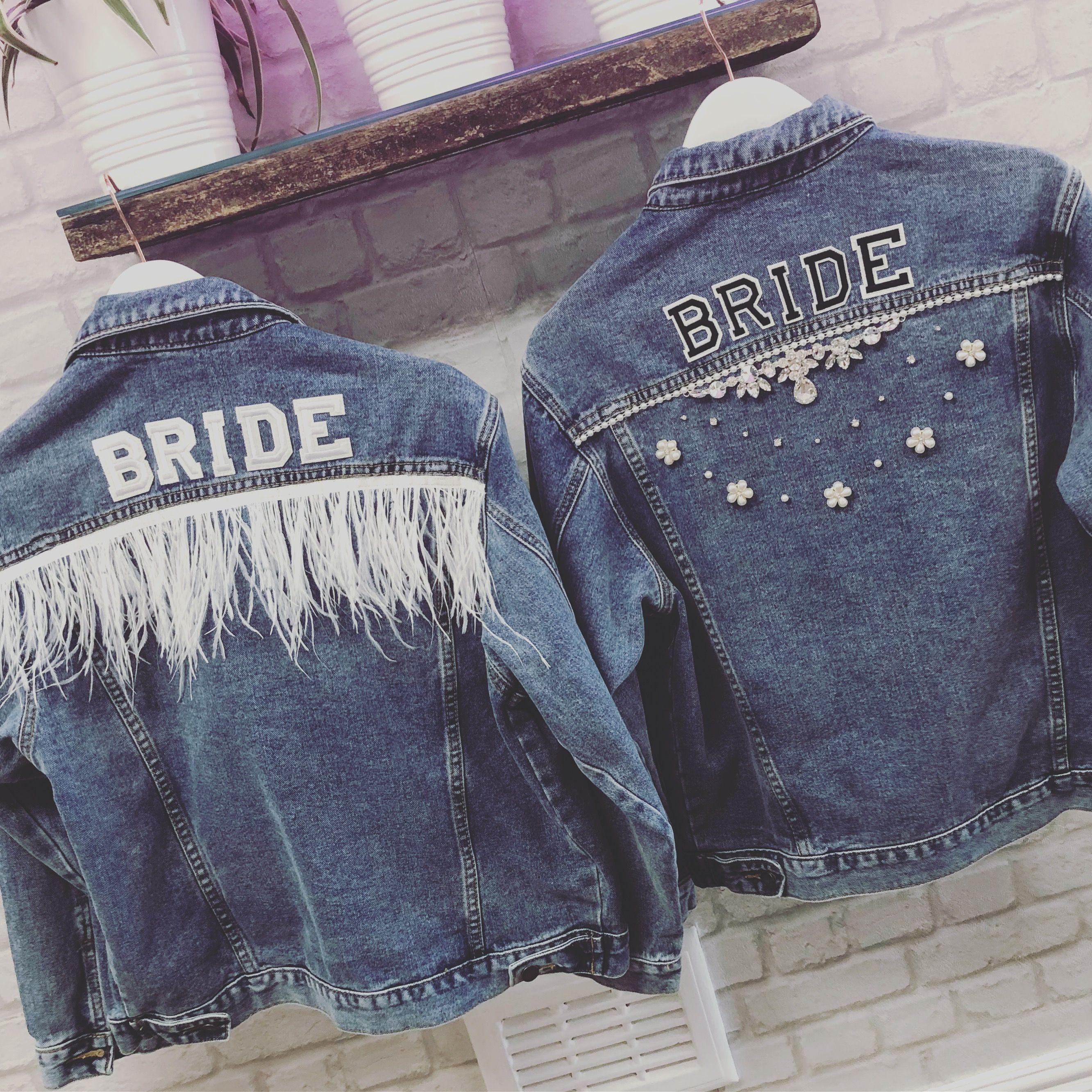 Beespoke Denim Jacket Diy Denim Jacket Denim Wedding Customised Denim Jacket [ 2665 x 2665 Pixel ]